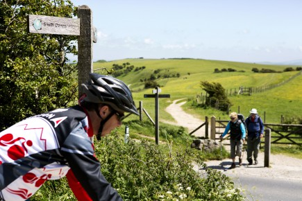 Cycling the South Downs Way on Ditchling Beacon