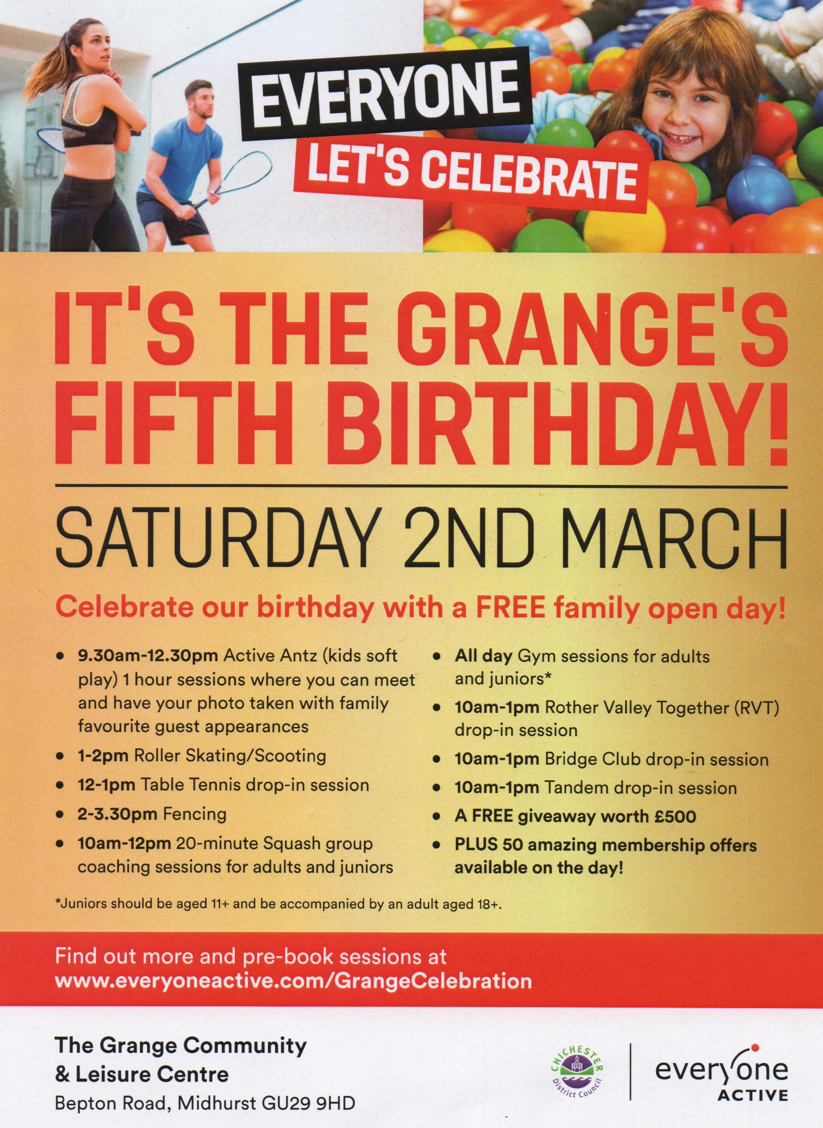 grange 5th birthday